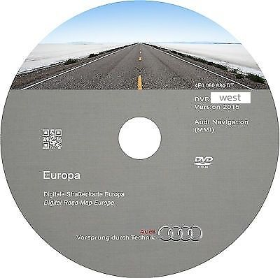 AUDI Navigation MMI 2G Western Europe 2018 DVD