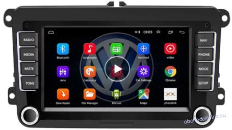 VW SKZ Seat Android  2DIN  USB BT GPS
