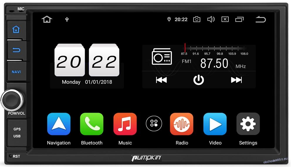2 DIN NAVI 4GB/64GB Android 9 Autoradio WiFi BT DVR