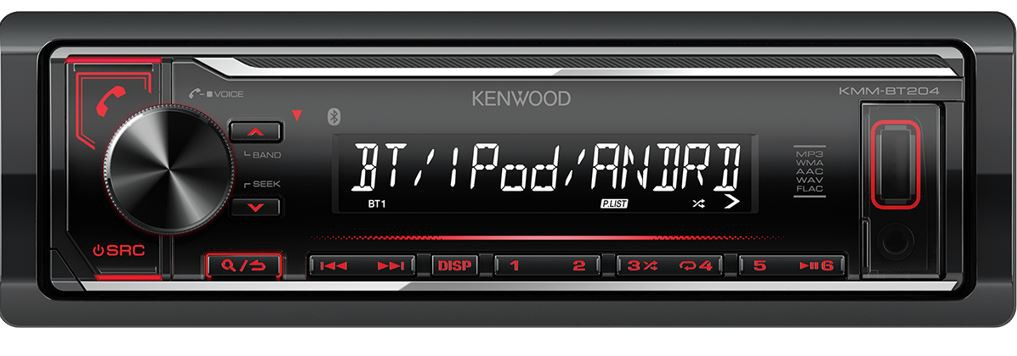Kenwood KMM-BT204 1DIN bezmechanikové autorádio s bluetooth