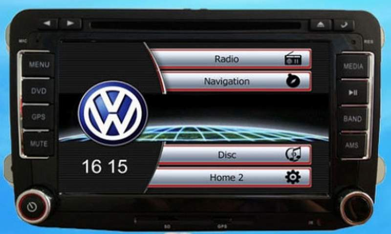 VW 2DIN DVD GPS USB SD