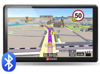 "7"" GPS JUNSUN BT AV IN 8GB iGO Primo EU 2019"