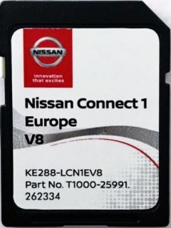 Nissan Connect1 V10 aktualizace map Evropa 2020