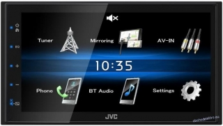 "JVC 2DIN autorádio/6,8"" displej/USB/AUX/Bluetooth"