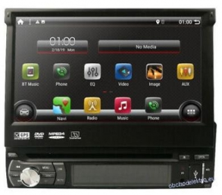"7"" LCD 1DIN DVD ANDROID 10 GPS navigace + CAM"