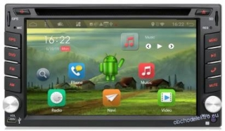 2DIN Android 10 2/32GB Car GPS navigace + CAM